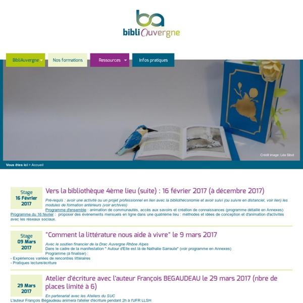 Bibliauvergne, Centre Régional de Formation aux carrières des Bibliothèques CRFB - Université Blaise Pascal