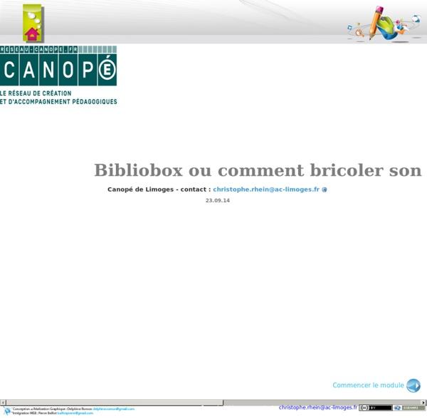 Bibliobox ou comment bricoler son serveur de fichier wifi personnel.
