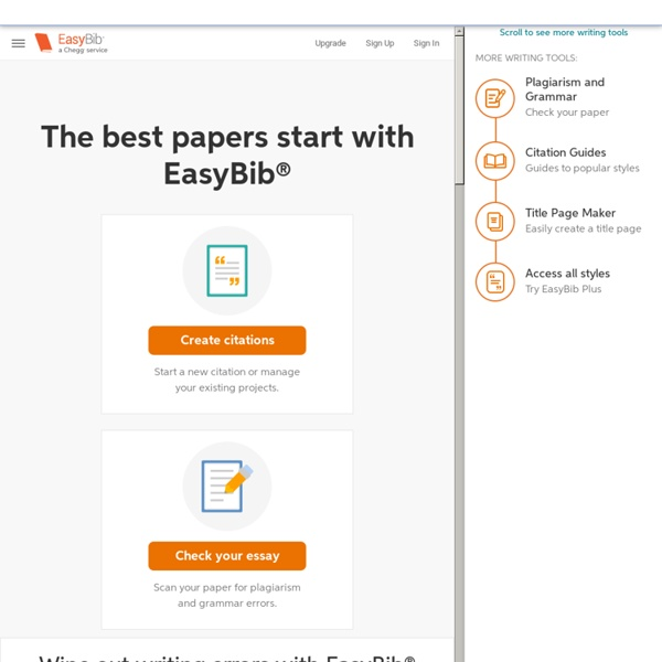 EasyBib: Free Bibliography Generator - MLA, APA, Chicago citation styles