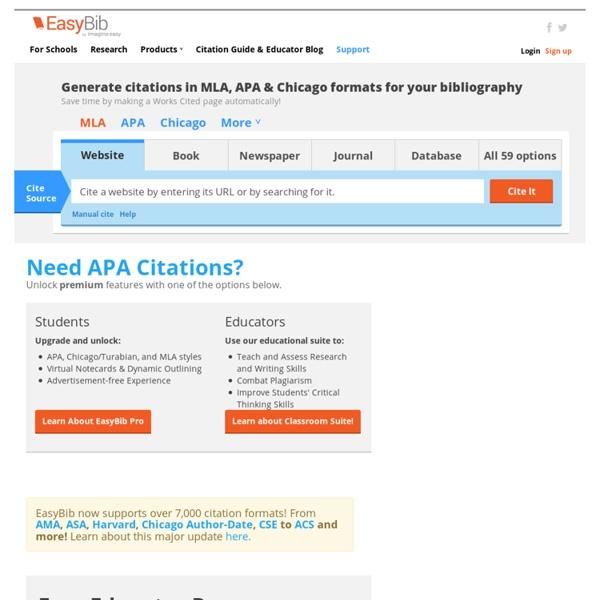 work cited generator apa format