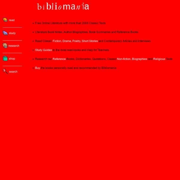 Bibliomania - Free Online Literature and Study Guides