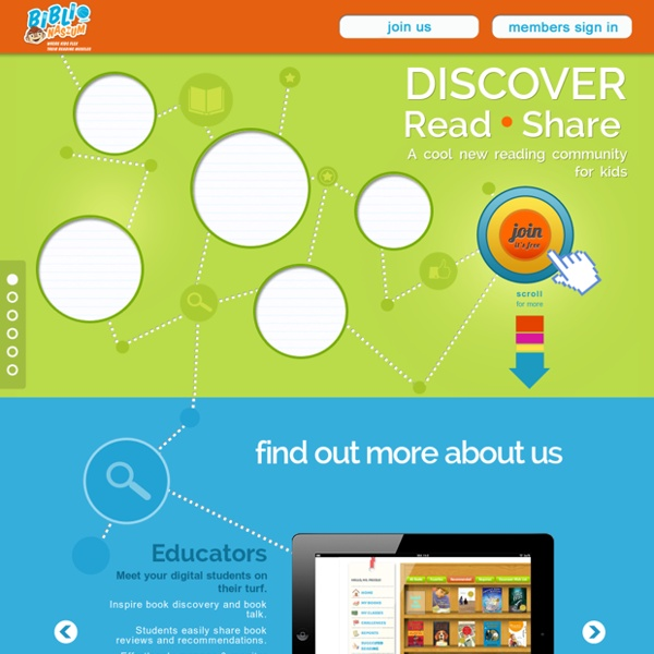 BiblioNasium - Kids Share Book Recommendations. Use Online Reading Logs, Find Books At Their Reading Level