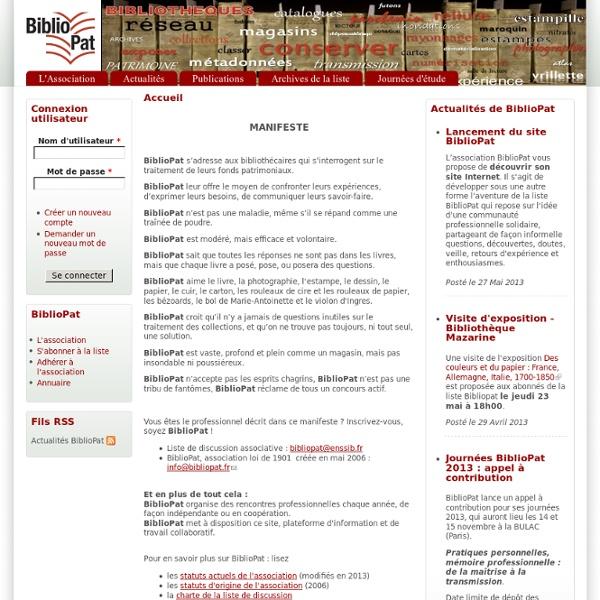 [FR] BiblioPat