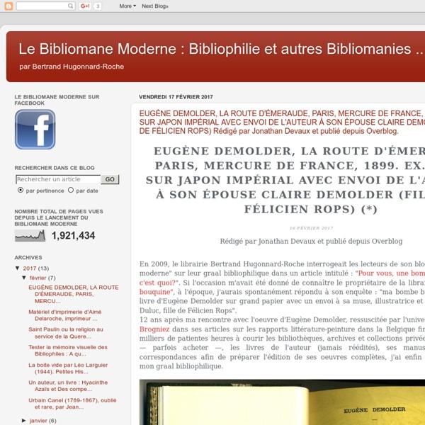 Le bibliomane moderne