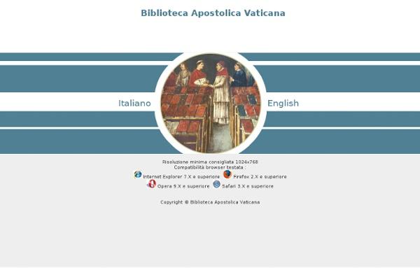 BAV - Biblioteca Apostolica Vaticana