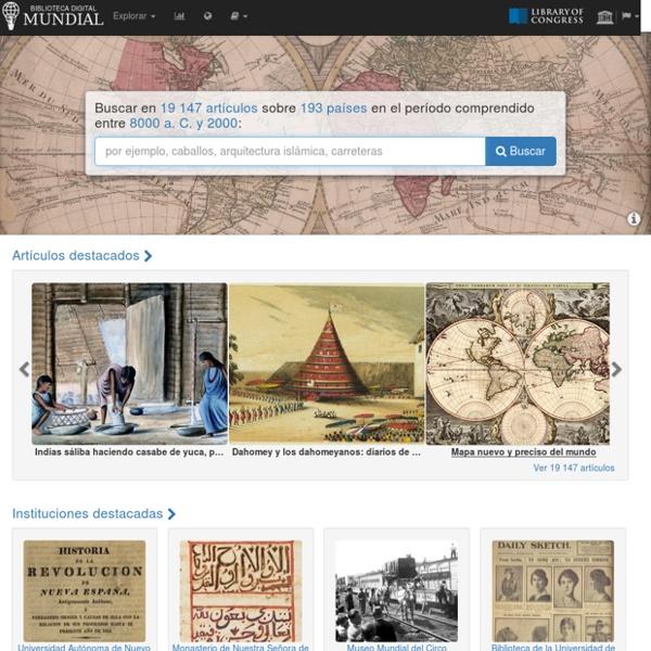 Inicio Biblioteca Digital Mundial