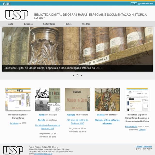 Biblioteca Digital de Obras Raras USP