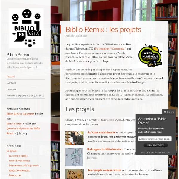 Comment repenser, remixer la bibliothèque avec les habitants, des bidouilleurs, des designers… ?