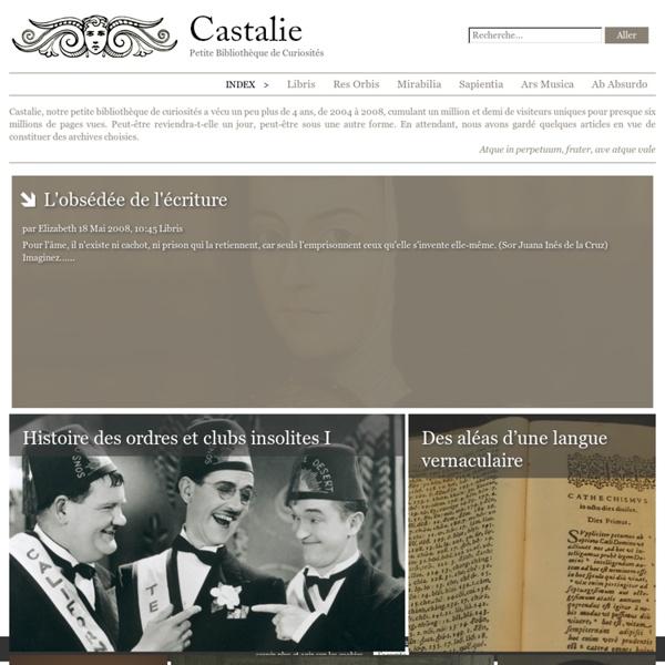 Castalie : Petite bibliothèque de curiosités