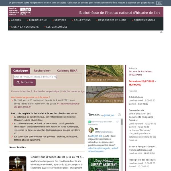 Bibliothèque de l'INHA