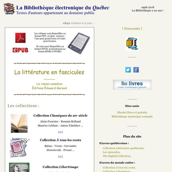 La Bibliothèque électronique du Québec