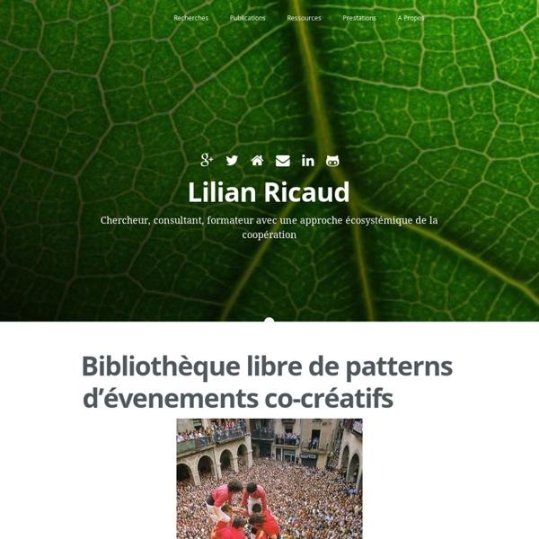 Bibliothèque libre de patterns d'évenements co-créatifs