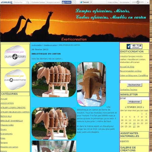 BIBLIOTHEQUE EN CARTON - exoticcreation