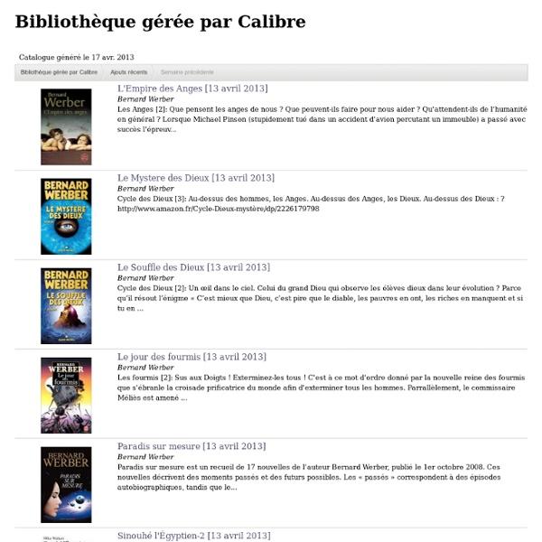 Bibliothèque gérée par Calibre