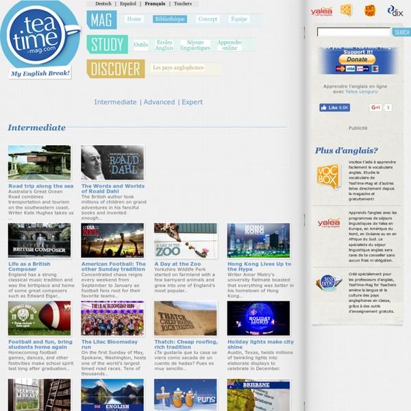 Apprendre l'Anglais gratuitement avec TeaTime-Mag – Ton magazine d'Anglais » Bibliothèque