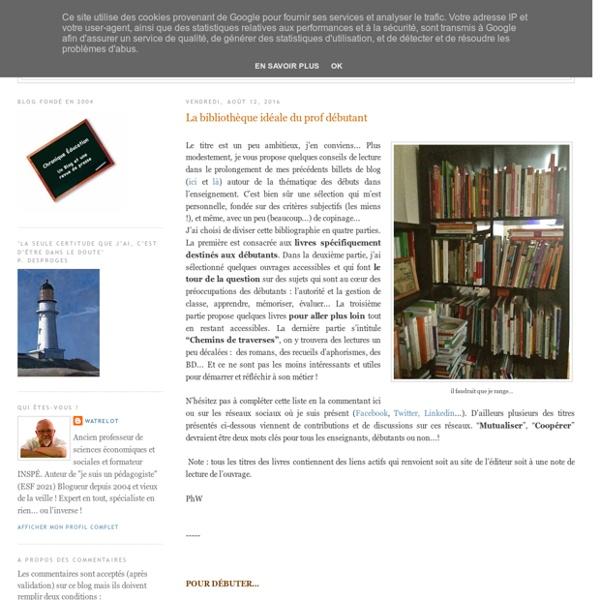 La bibliothèque idéale du prof débutant