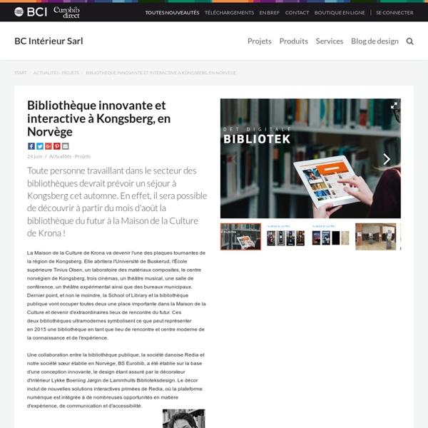 Bibliothèque innovante et interactive à Kongsberg, en Norvège