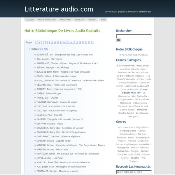 Notre bibliothèque de livres audio gratuits