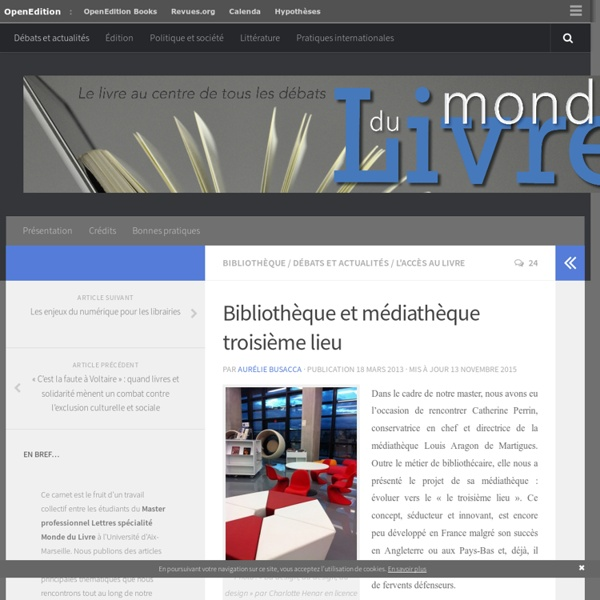 Bibliothèque et médiathèque troisième lieu – Monde du Livre