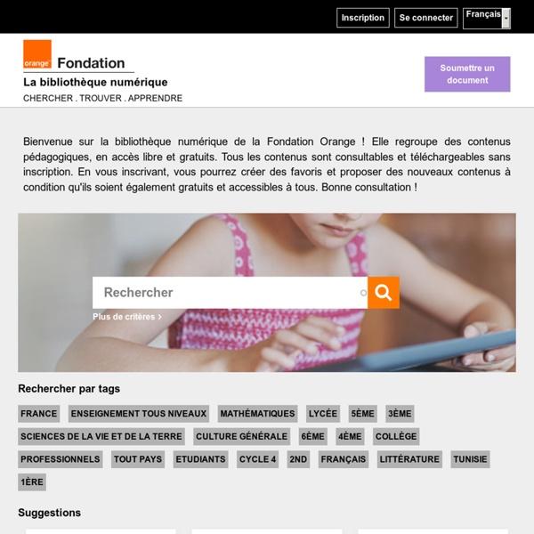 La bibliothèque numérique de la Fondation Orange