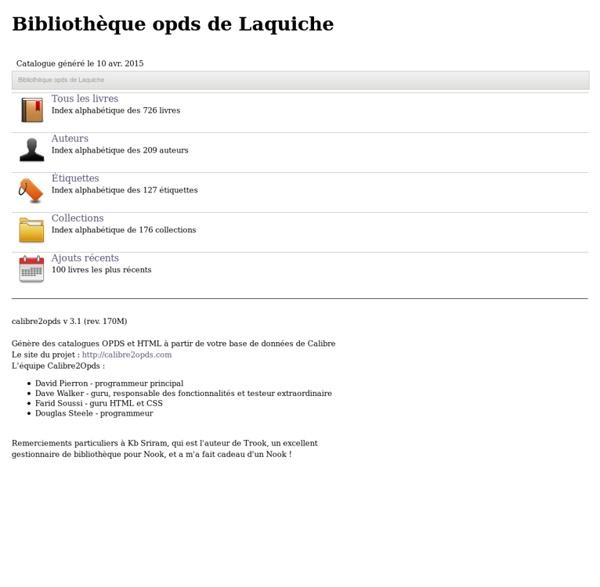 Bibliothèque opds de Laquiche