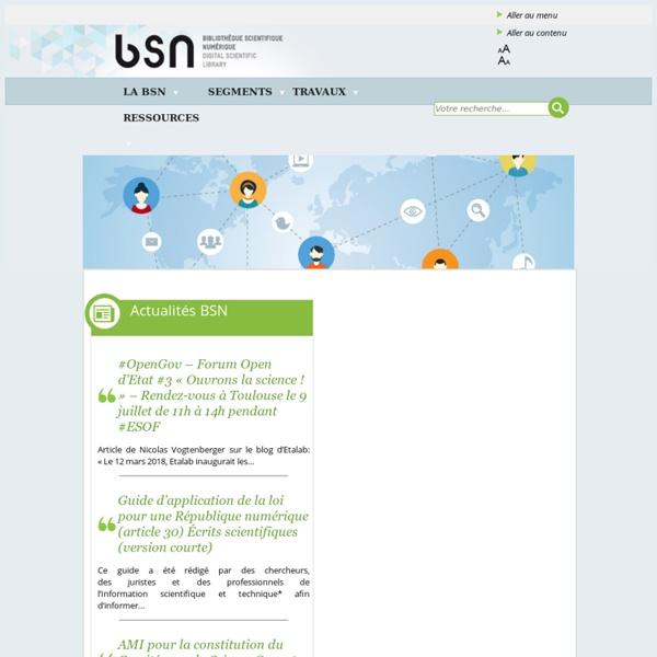 BSN - Bibliothèque Scientifique Numérique