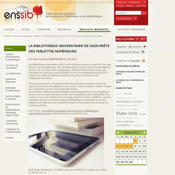La bibliothèque universitaire de Caen prête des tablettes numériques