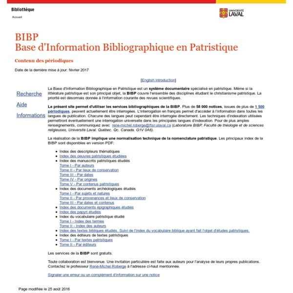 Bibliographie en patristique