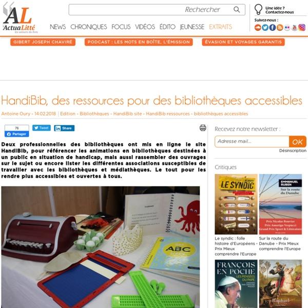 HandiBib, des ressources pour des bibliothèques accessibles