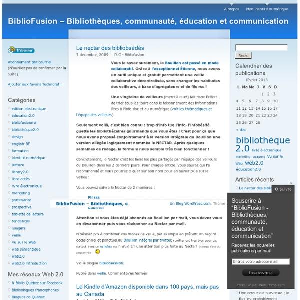 """BiblioFusion – Mettre en Fusion les passions de la """"Communauté b"""