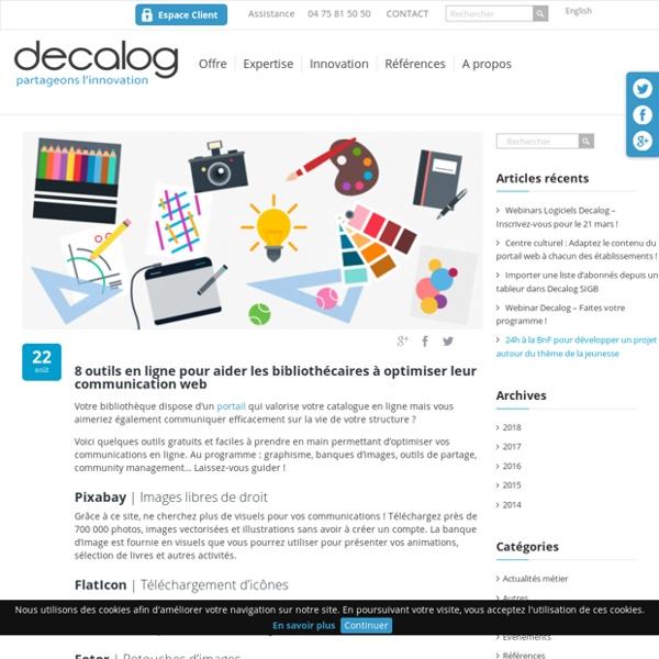 8 outils en ligne pour aider les bibliothèques à communiquer
