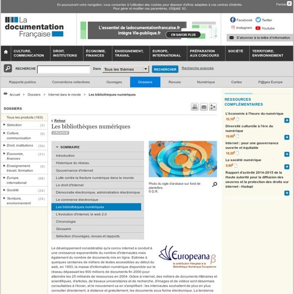Les bibliothèques numériques - Internet dans le monde