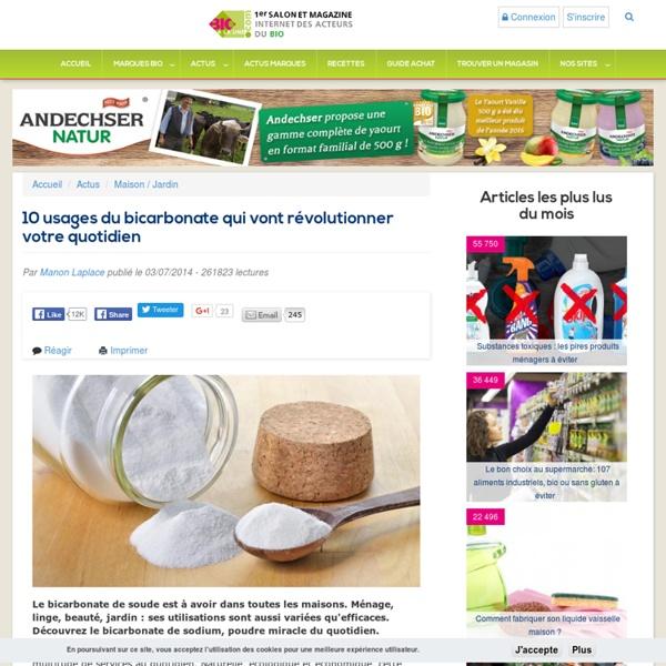 10 usages du bicarbonate qui vont révolutionner votre quotidien