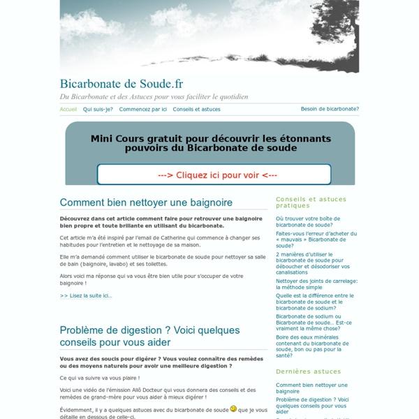 Bicarbonate de Soude.fr - Du bicarbonate plein d'Astuces