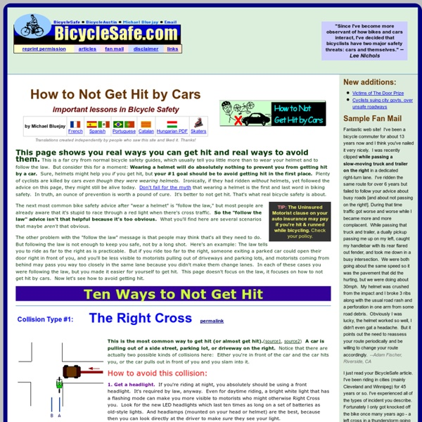 Bicycle Safety: How to Not Get Hit by Cars