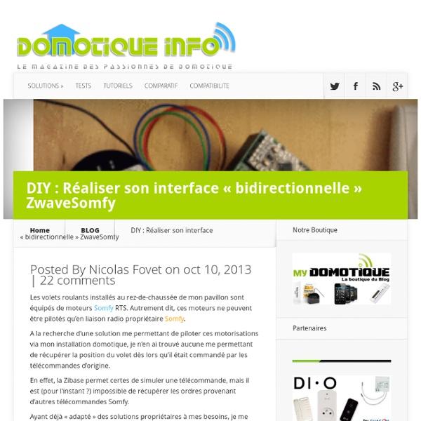 "DIY : Réaliser son interface ""bidirectionnelle"" ZwaveSomfy"