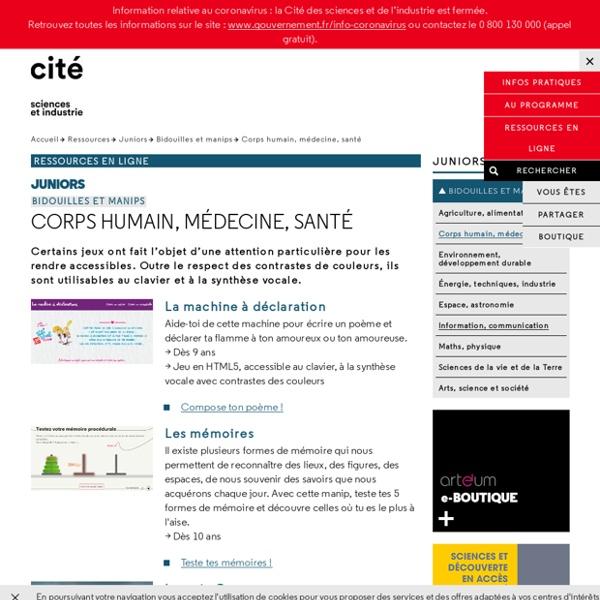 Corps humain, médecine, santé