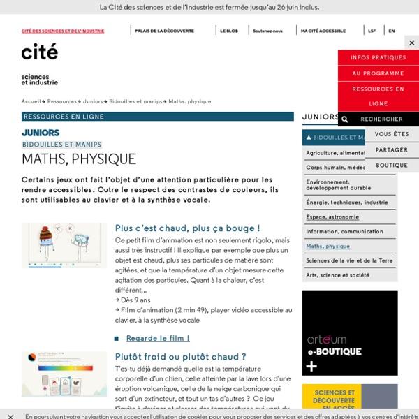 Maths, physique - Bidouilles et manips