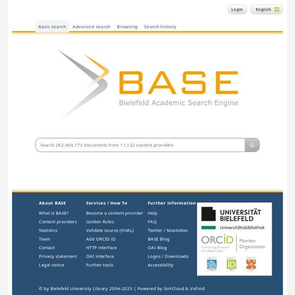 Moteur de recherch BASE sur Archives ouvertes