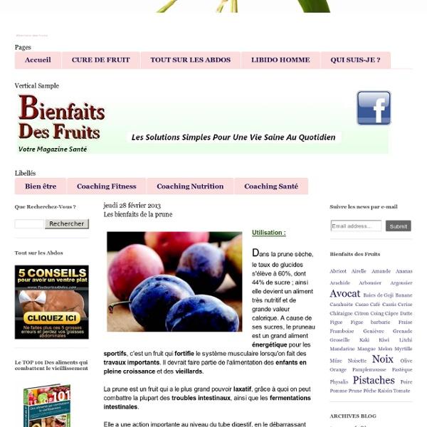 Les bienfaits de la prune