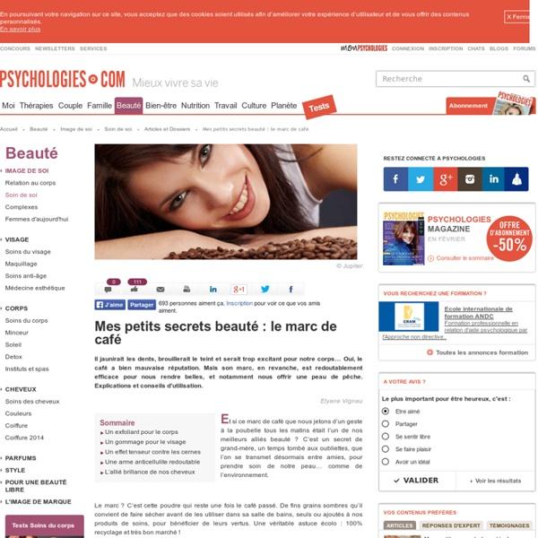 Marc de café - Bienfaits beauté : gommage, anti-celullite..