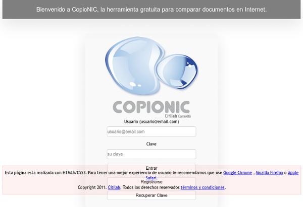 Bienvenido a CopioNIC