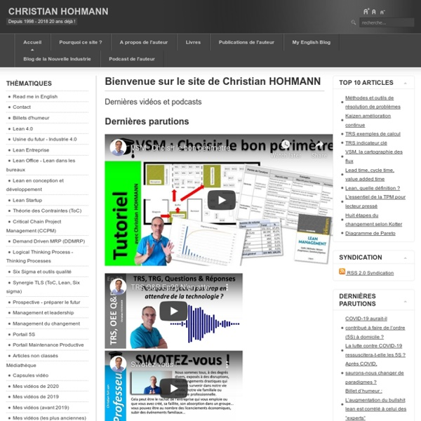 Bienvenue sur le site de Christian HOHMANN