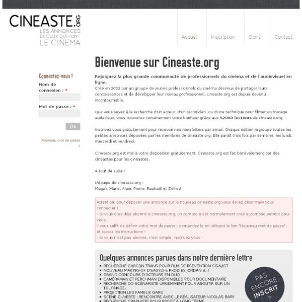 Bienvenue sur Cineaste.org