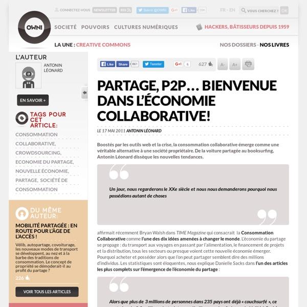 Partage, P2P… économie collaborative!