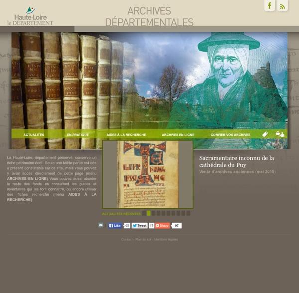 Bienvenue sur le site - Archives départementales de la Haute-Loire
