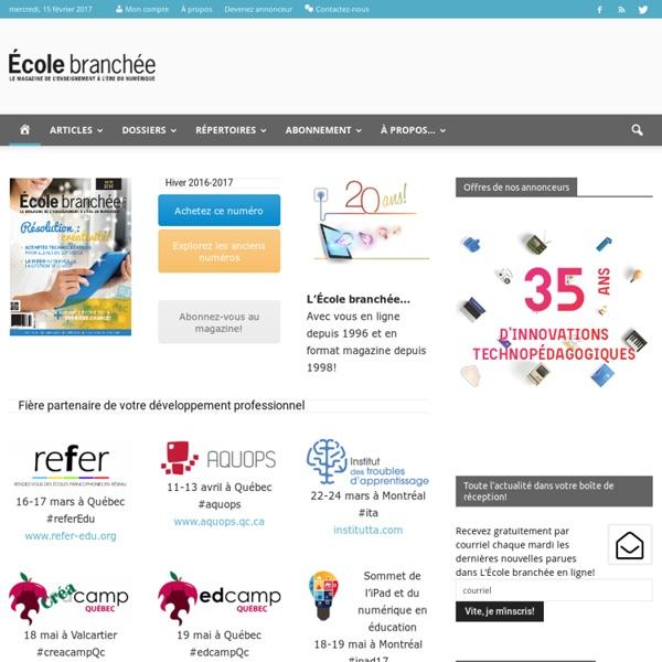 École branchée – Le magazine des tendances et ressources numériques éducatives