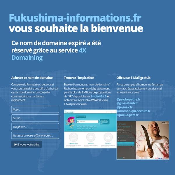 ACTUALITÉS FUKUSHIMA-INFORMATIONS