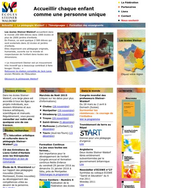 Bienvenue sur le site des écoles et jardins d'enfants Steiner-Waldorf en France