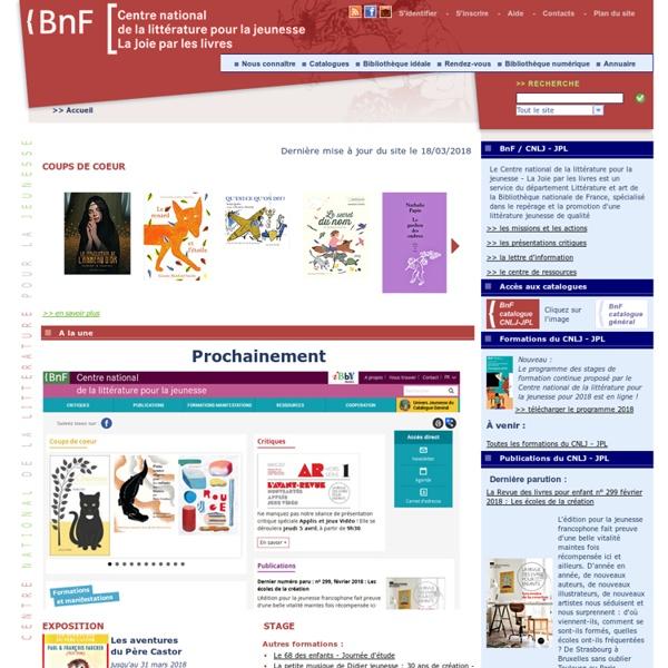 Bienvenue sur le site de la Joie par les livres : livres et lecture pour la jeunesse